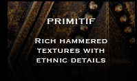 Pewter Metal Tiles - Primitif Pewter Accent Tiles