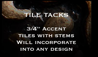 Pewter Metal Tiles - Tile Tacks Pewter Accent Tiles